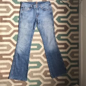 7 For All Mankind Pink A Pockets sz 28
